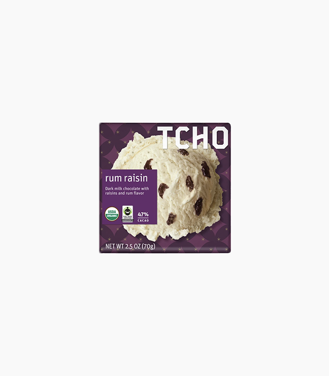"TCHO MILK CHOCOLATE ""RUM RAISIN"" BAR"