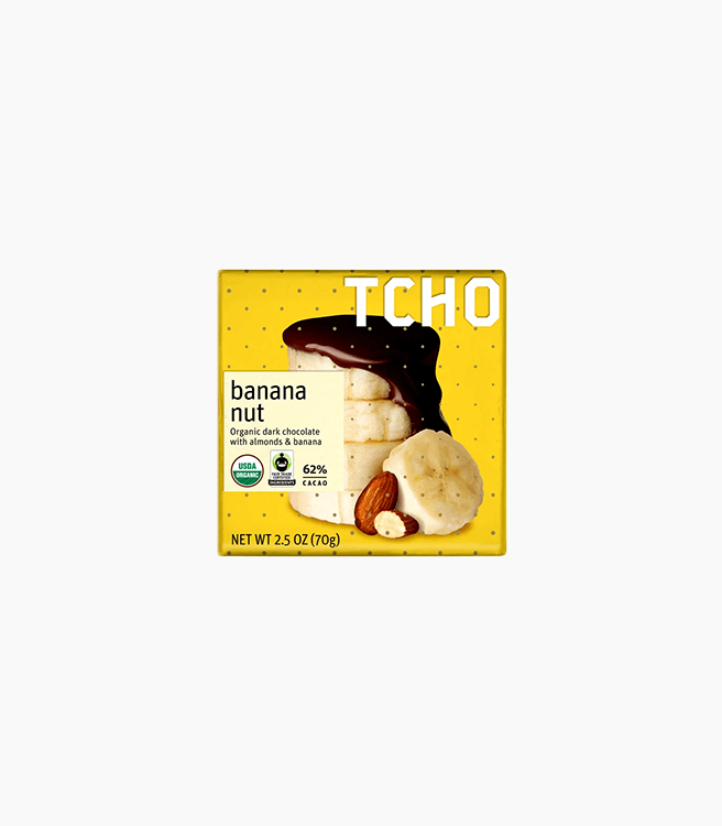 "TCHO DARK CHOCOLATE ""BANANA NUT"" BAR"