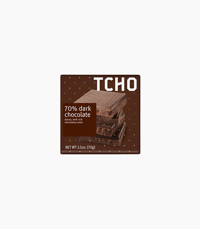 TCHO 70% DARK CHOCOLATE FROM GHANA BAR