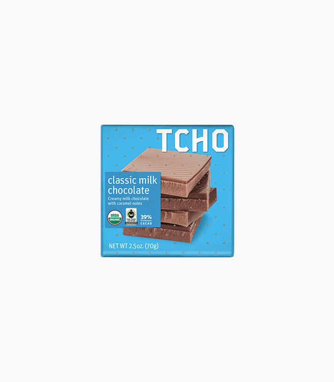 TCHO 39% CLASSIC MILK CHOCOLATE BAR