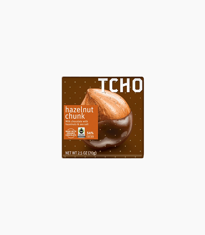 "TCHO MILK CHOCOLATE ""HAZELNUT CHUNK"" BAR"