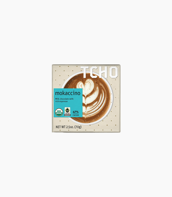 "TCHO MILK CHOCOLATE ""MOKACCINO"" + BLUE BOTTLE COFFEE BAR"