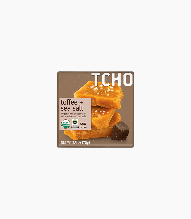 "TCHO MILK CHOCOLATE ""TOFFEE + SEA SALT"" BAR"