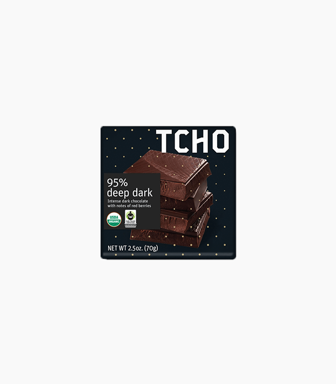 TCHO 95% DEEP DARK CHOCOLATE BAR