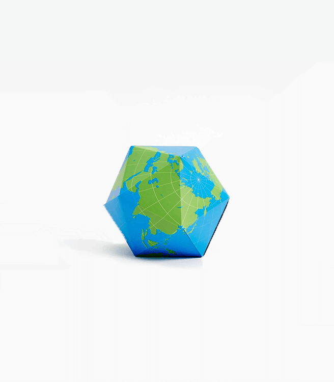 Areaware Dymaxion Folding Globe - Blue/Green