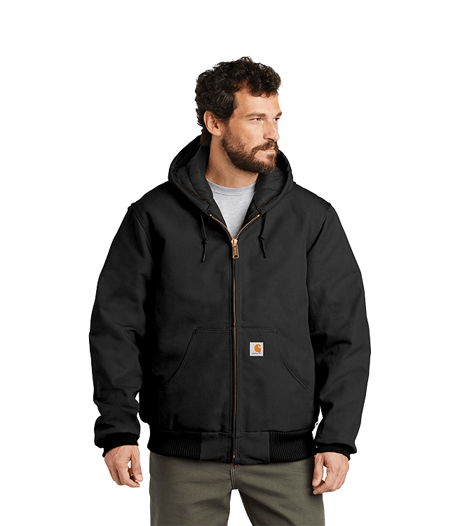Carhartt ® Tall Quilted-Flannel-Lined Duck Active Jacket