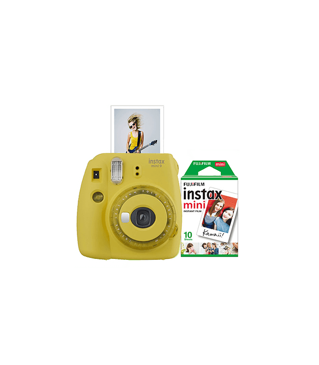 Fujifilm Instax Mini 9 Instant Camera w/ 10 Count Film Yellow
