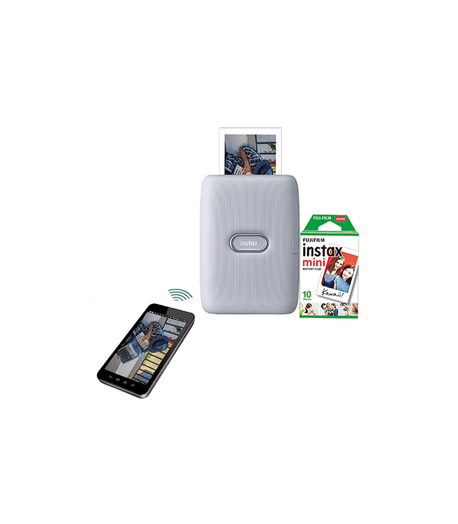 Fujifilm Instax Mini Link Smartphone Printer Ash White