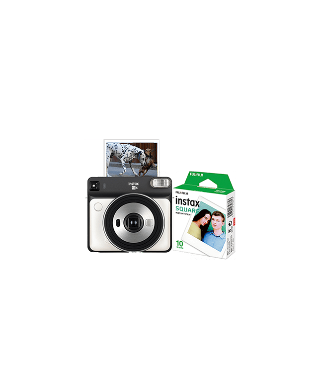 Fujifilm Instax Square SQ6 Camera w/ 10 Count Film White