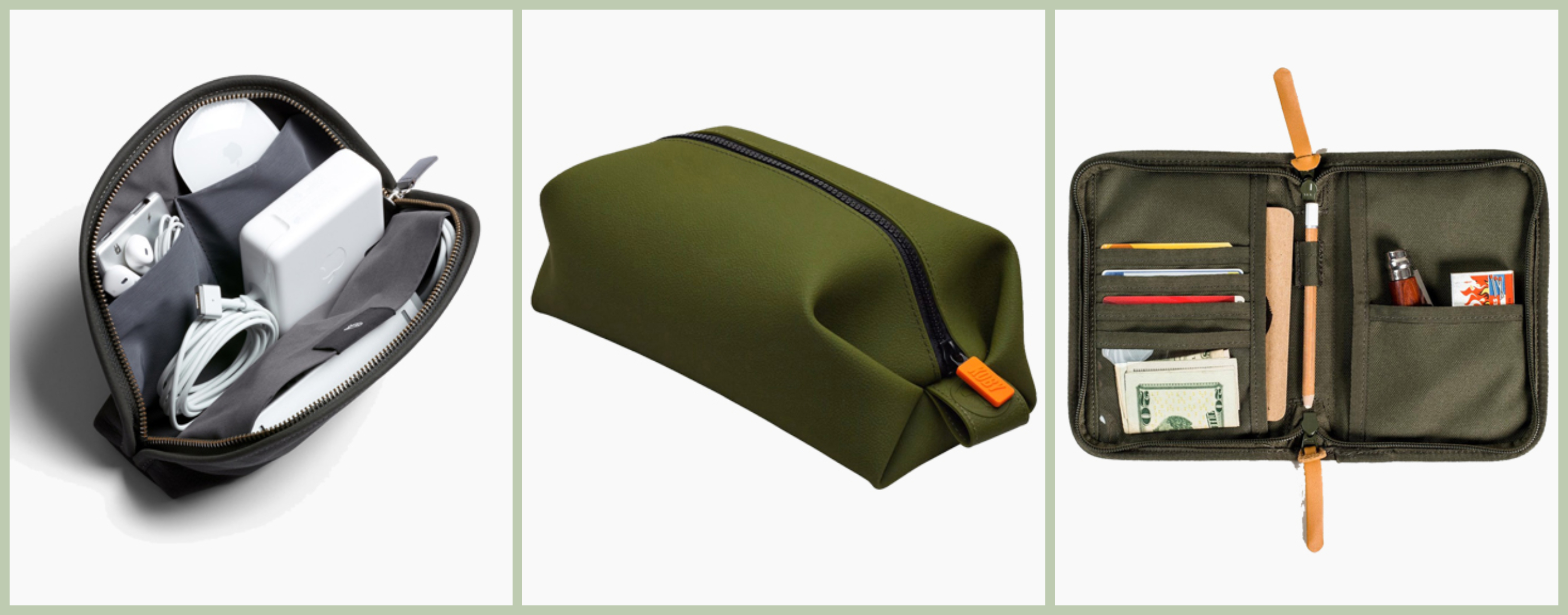 Bellroy Classic Pouch, Tooletries Koby Bag Olive, United By Blue Peaks Zip Case