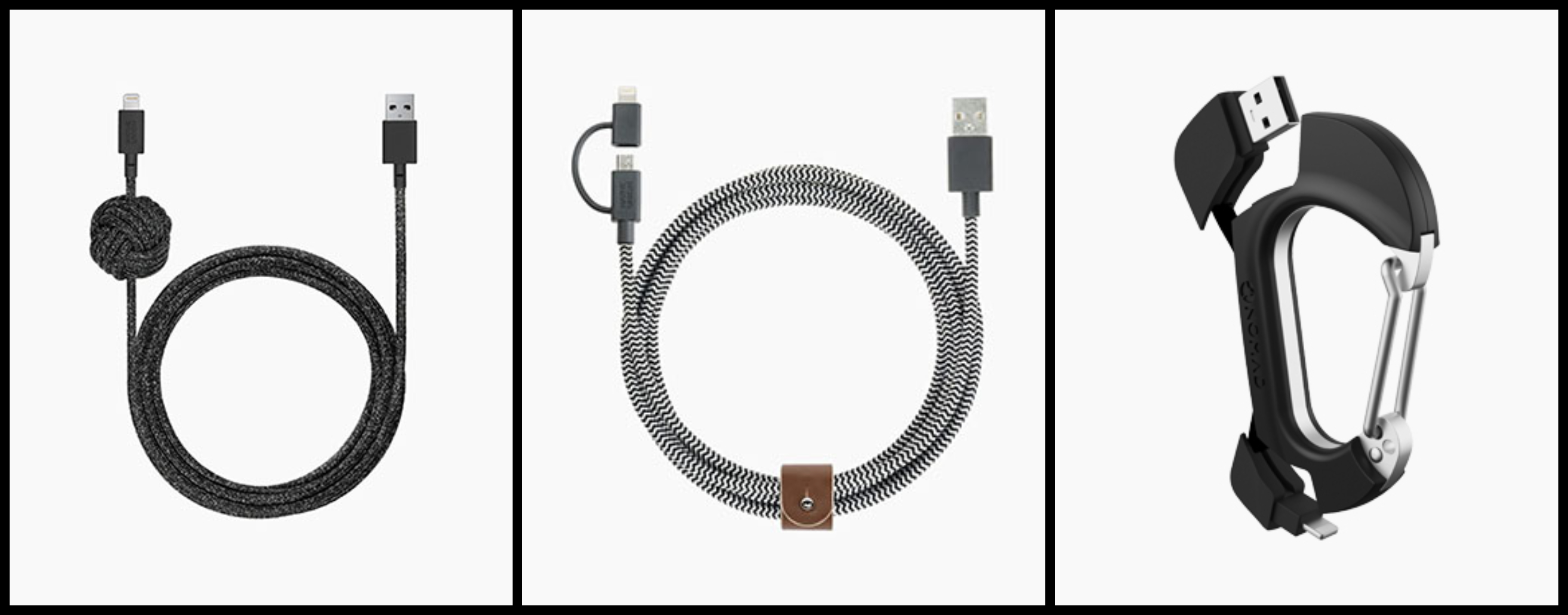 Native Union Night Cable, Native Union Belt Cable Twinhead, Nomad Carabiner Charging Cable‍