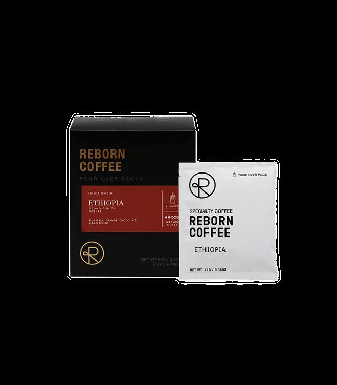 Reborn Coffee Single Serve Pour Over Drip Bag Coffee - Ethiopia