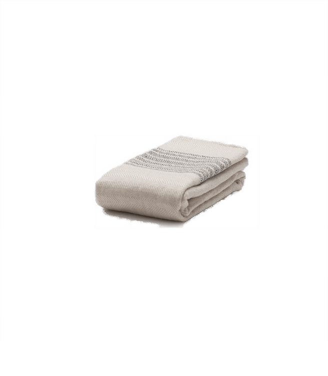 Morihata Flax Line Organic Hand Towel Brown-Beige