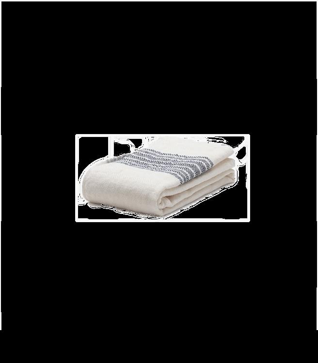Morihata Flax Line Organic Hand Towel Navy-Ivory