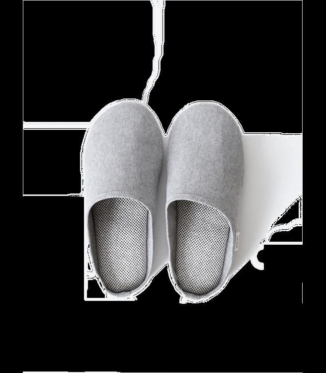 Morihata Sasawashi Room Shoes Grey