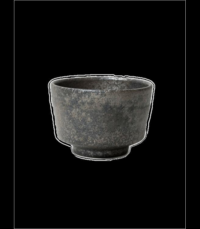 Morihata Youhen Ibushi Matcha Bowl Dark Silver
