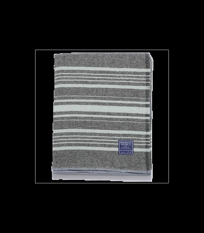 Faribault Woolen Mill Co. Weekender Wool Throw - Charcoal