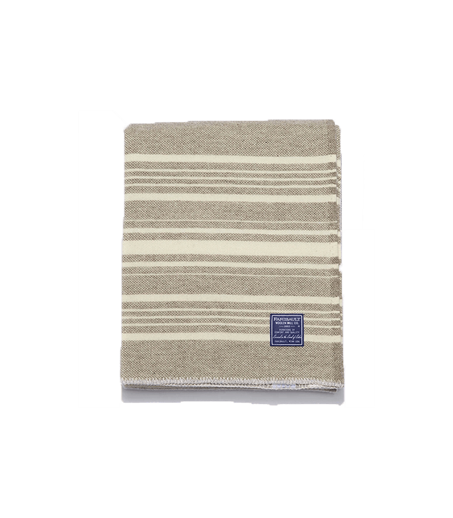 Faribault Woolen Mill Co. Weekender Wool Throw - Truffle