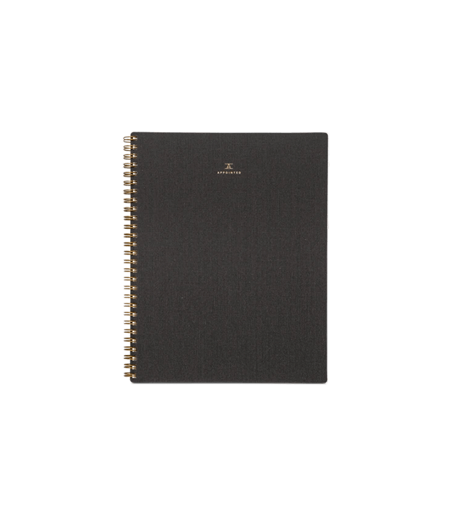 Appointed Notebook - Charcoal Gray