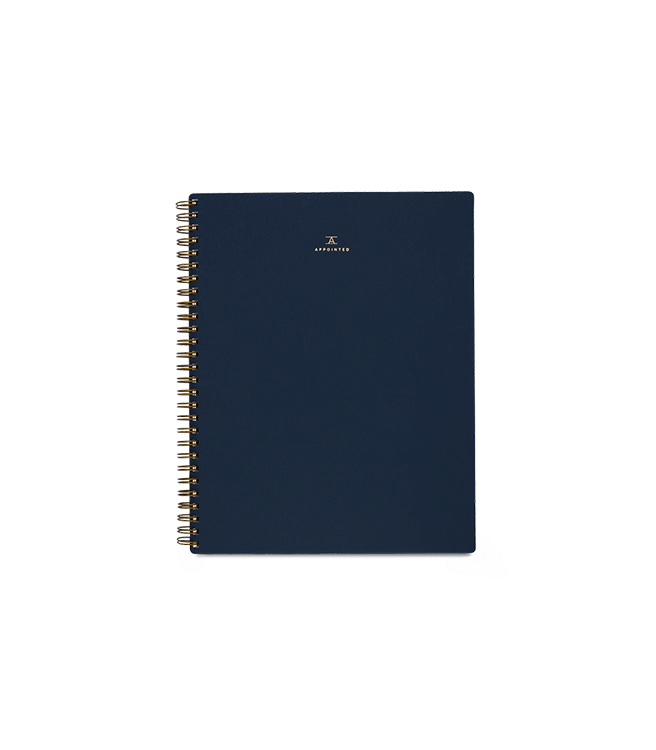 Appointed Notebook - Oxford Blue