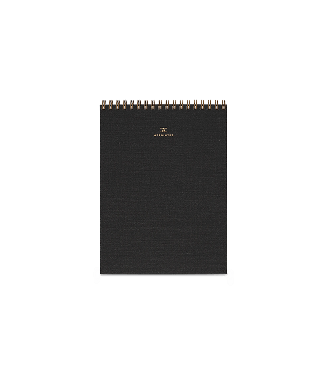 Appointed Office Notepad - Charcoal Gray