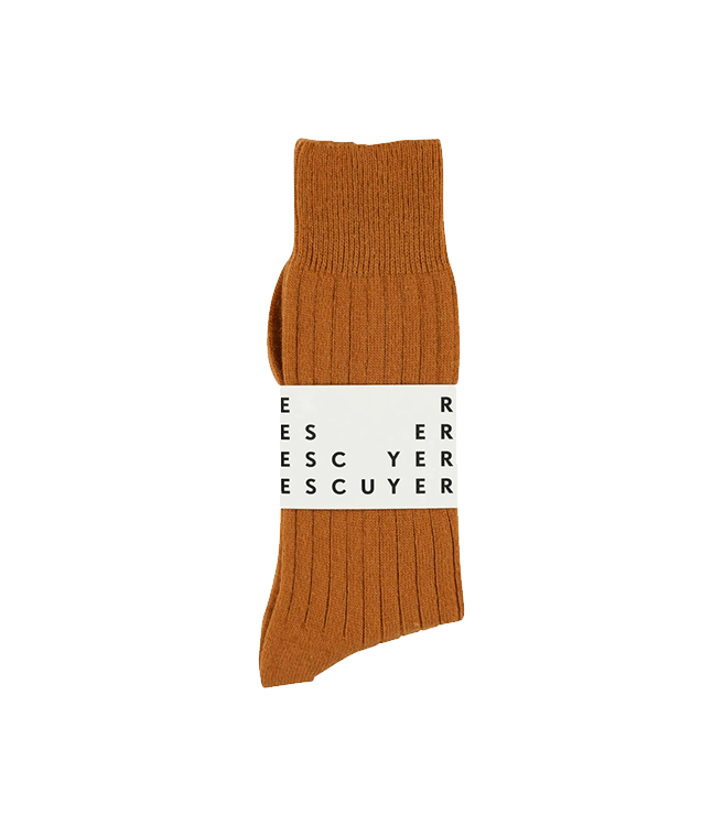 Escuyer Men's Cashmere Socks - Rust