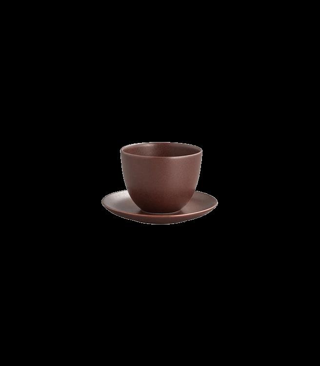 Kinto PEBBLE Cup & Saucer 6oz - Brown