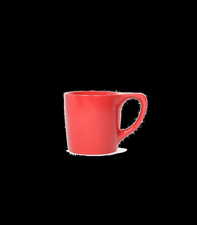 Not Neutral Lino Coffee Mug - Rhubarb Red