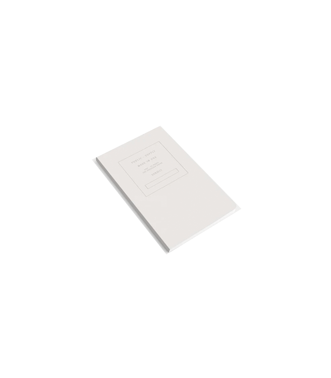 """Public Supply 5x8"""" Soft Cover Notebook Embossed - White"""