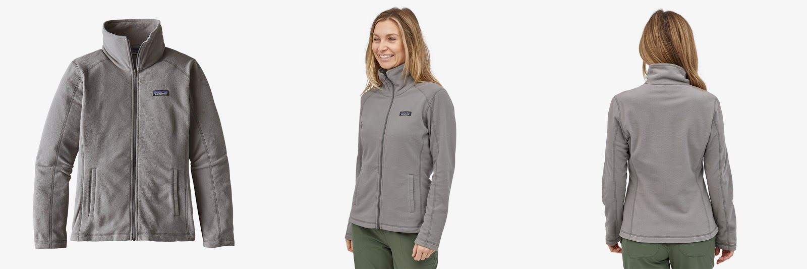 Patagonia Women's Micro D Jacket in Feather Grey