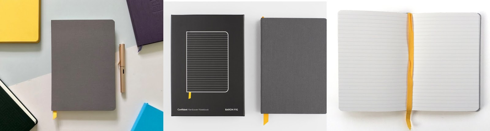 Baron Fig Confidant Hardcover Notebook Pocket in Charcoal