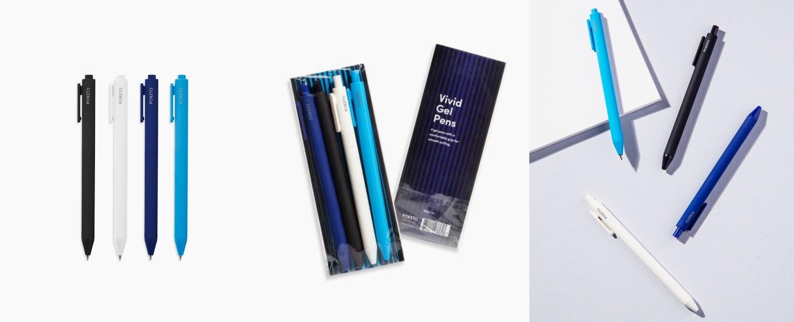 Poketo Vivid Gel Pen Set in Cool