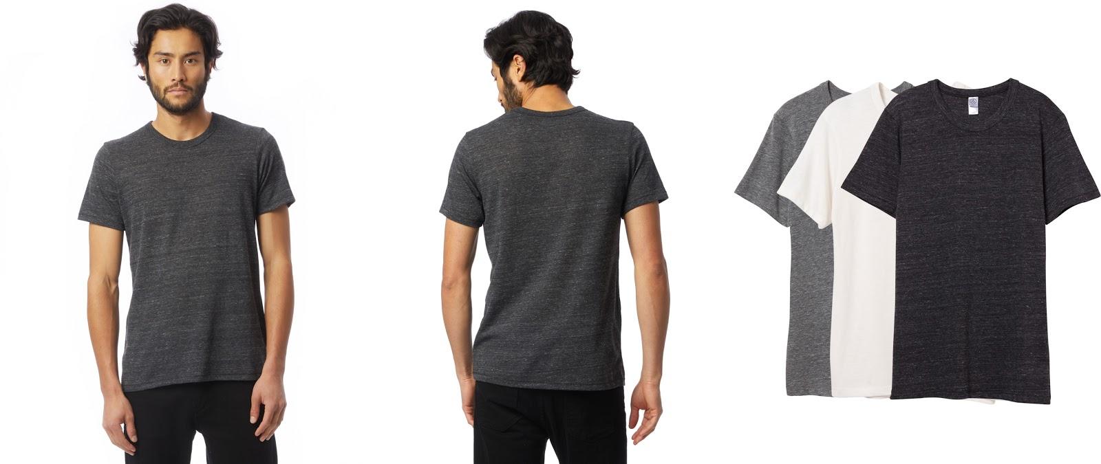 Alternative Apparel Eco-Jersey Crew T-Shirt in Eco Black