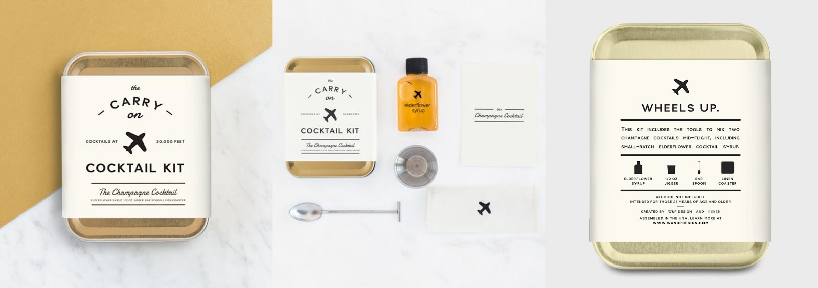 W&P Design Carry On Cocktail Kit in Champagne