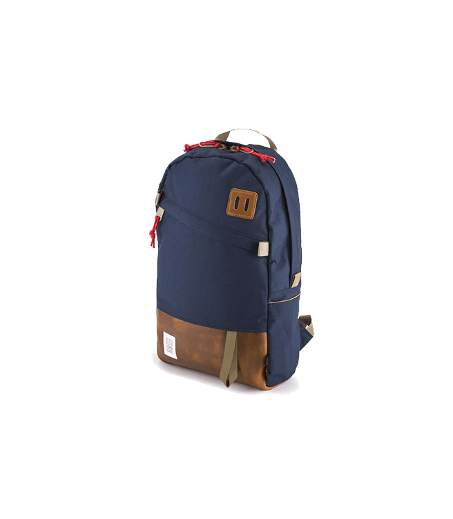 Topo Design Daypack - Navy / Brown Leather