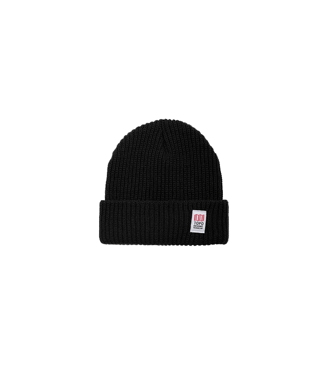 Topo Design Watch Cap - Black