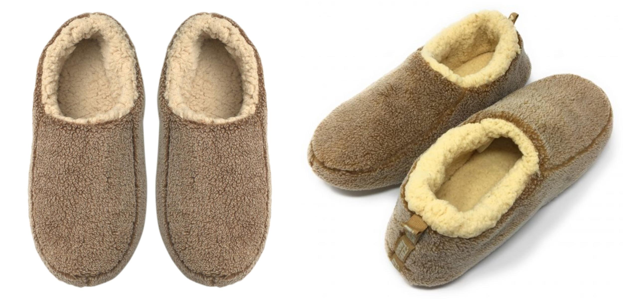 Sherpa Tan House Slippers