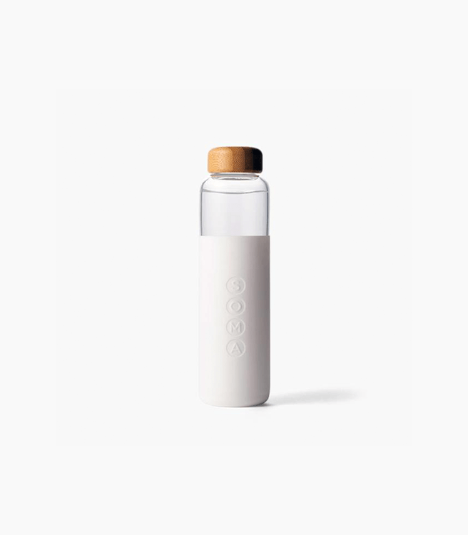 SOMA V2 17 oz. Glass Water Bottle - White