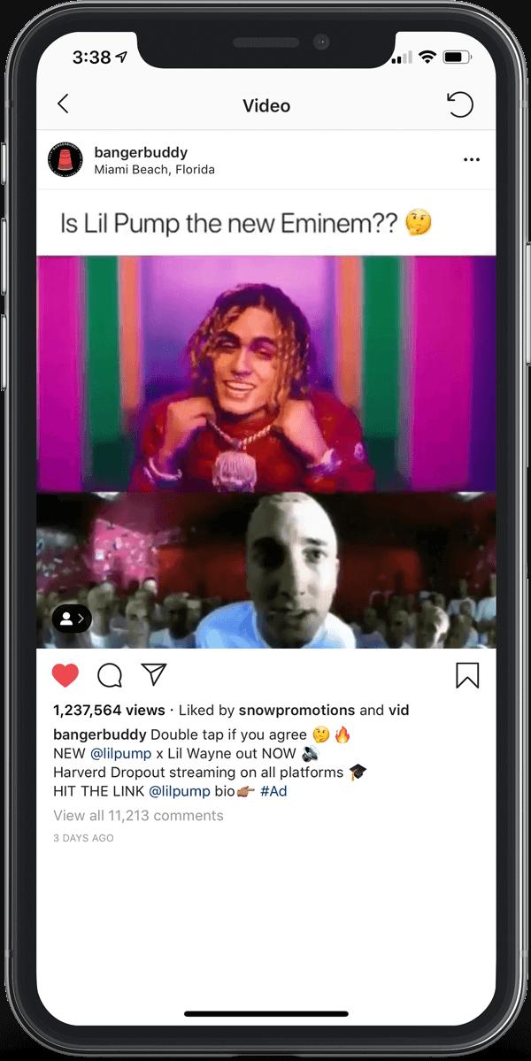 Lil Pump influencer social media marketing promo
