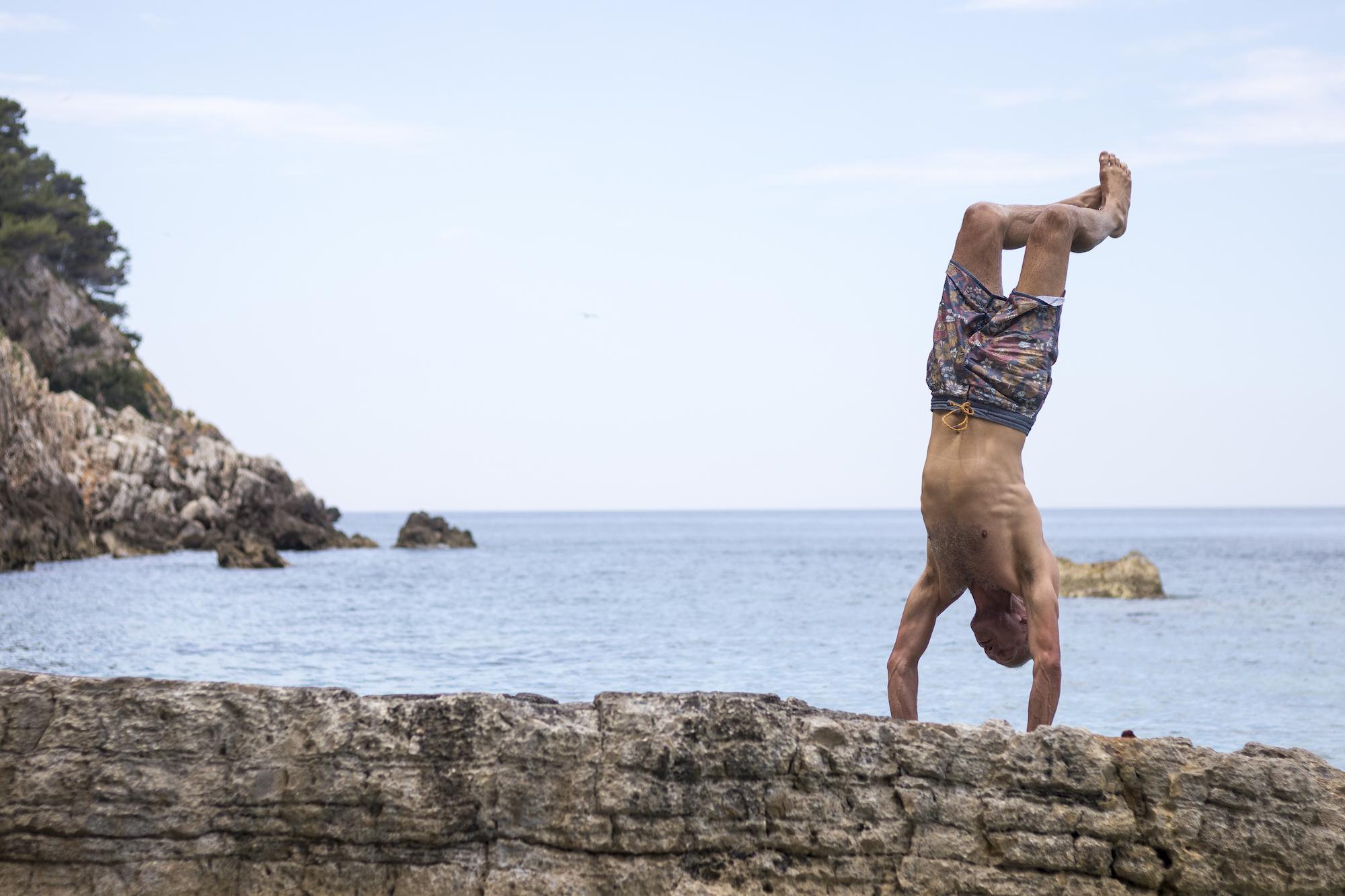 Handstand in Komiza Bay, Vis Island