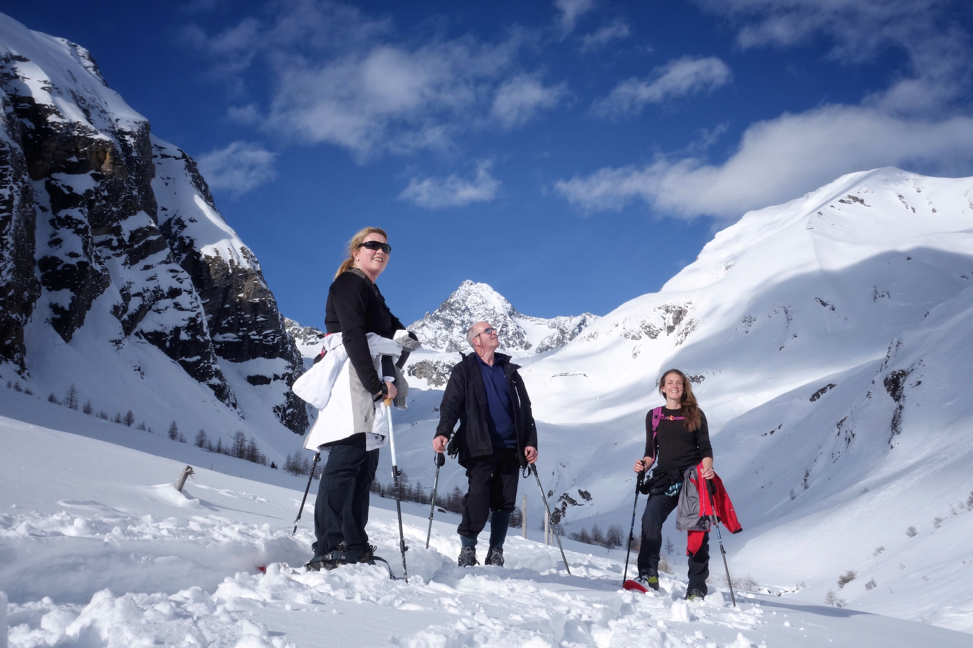 Snowshoe hike in the Austrian Alps