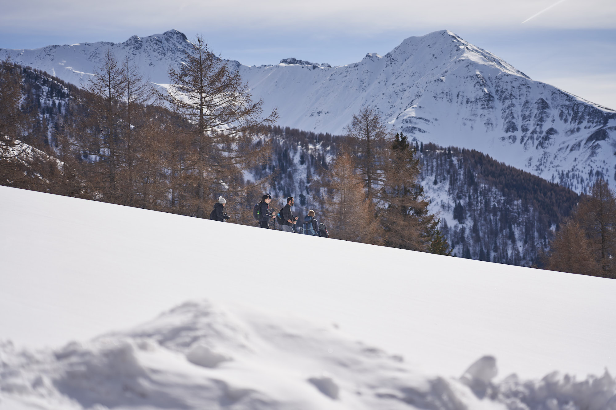 austria snowshoe hike MoaAlm Mountain Retreat