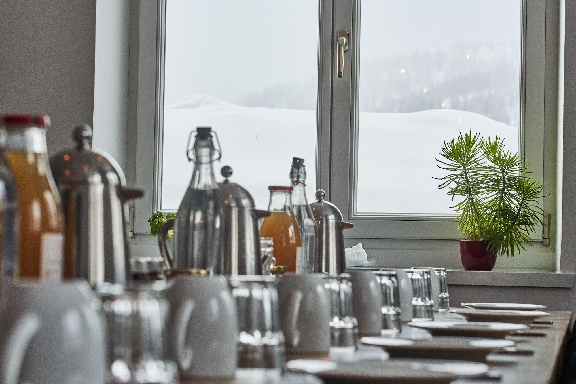 Breakfast in the Austrian Alps