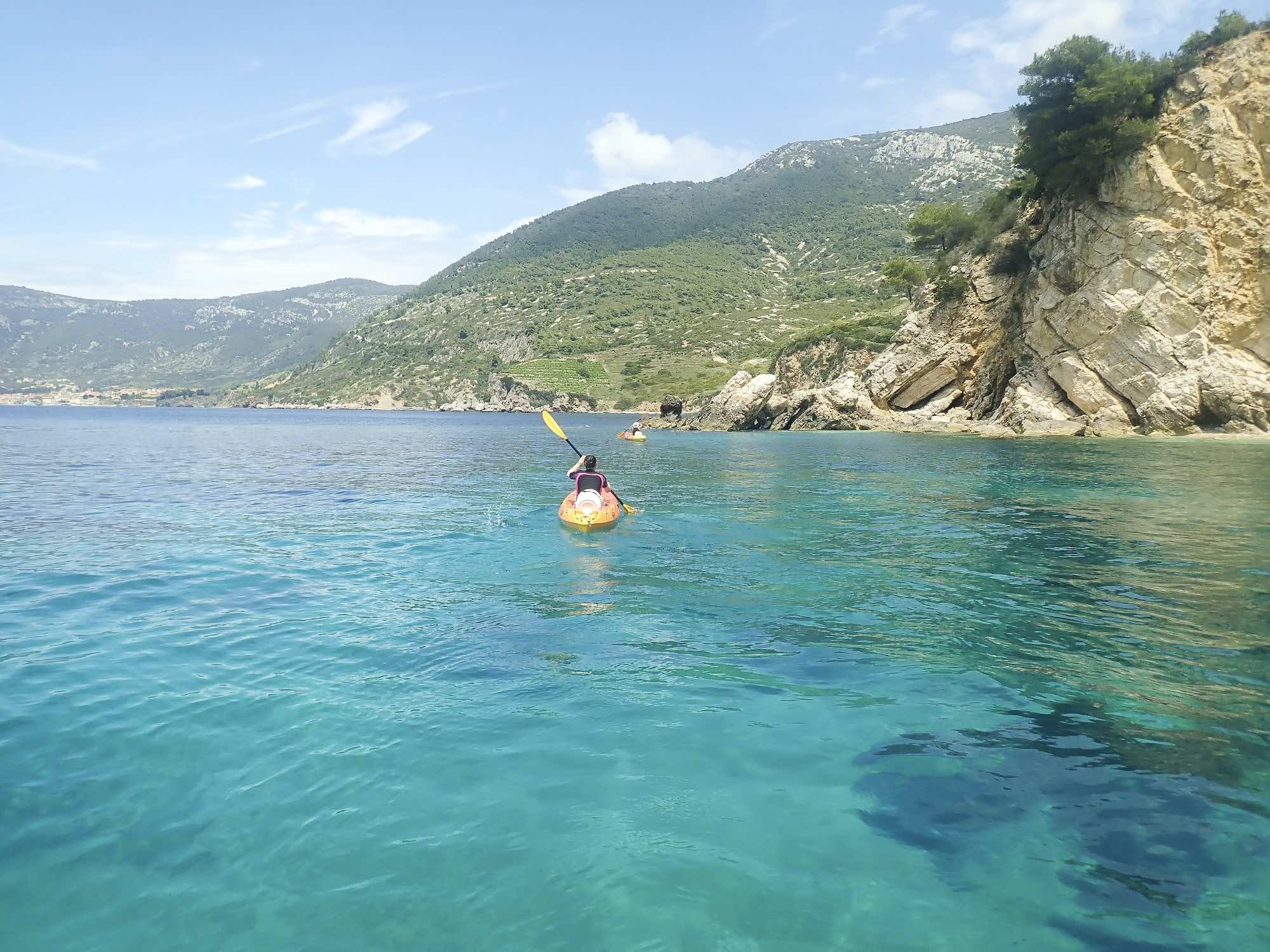 Kayaking on Vis Island