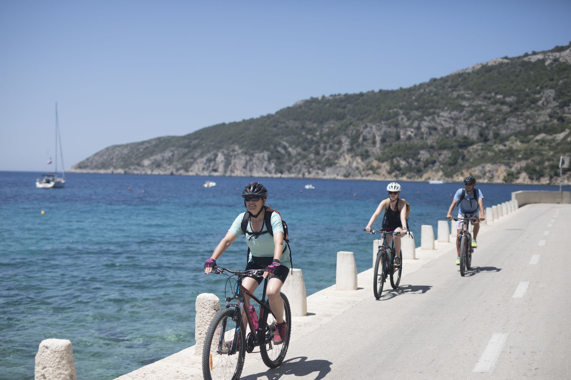 Biking in Komiza, Vis Island Croatia