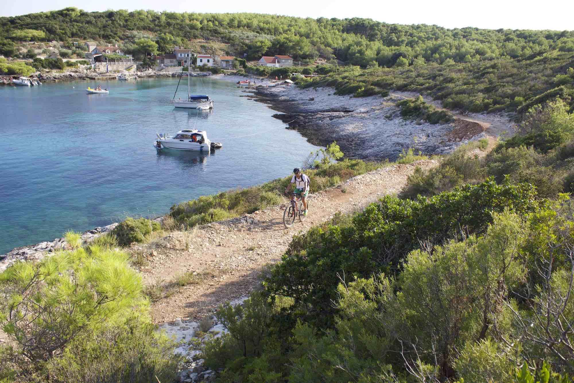 biking on Vis Island Croatia