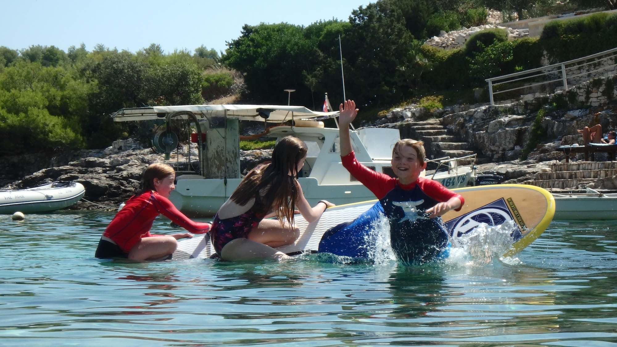family activity holiday on the island of Vis Croatia