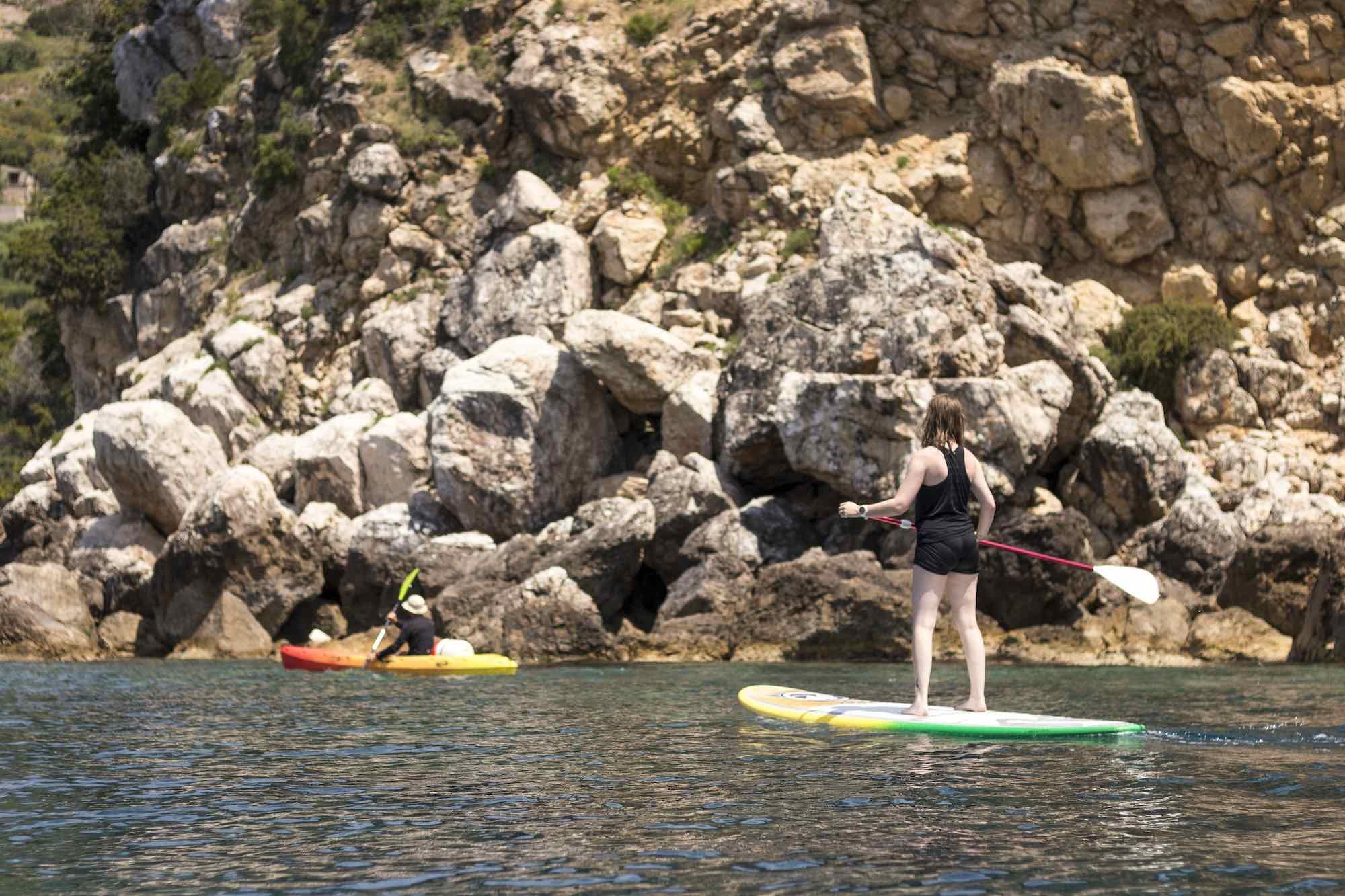 kayaking and paddle boarding in Komiza bay