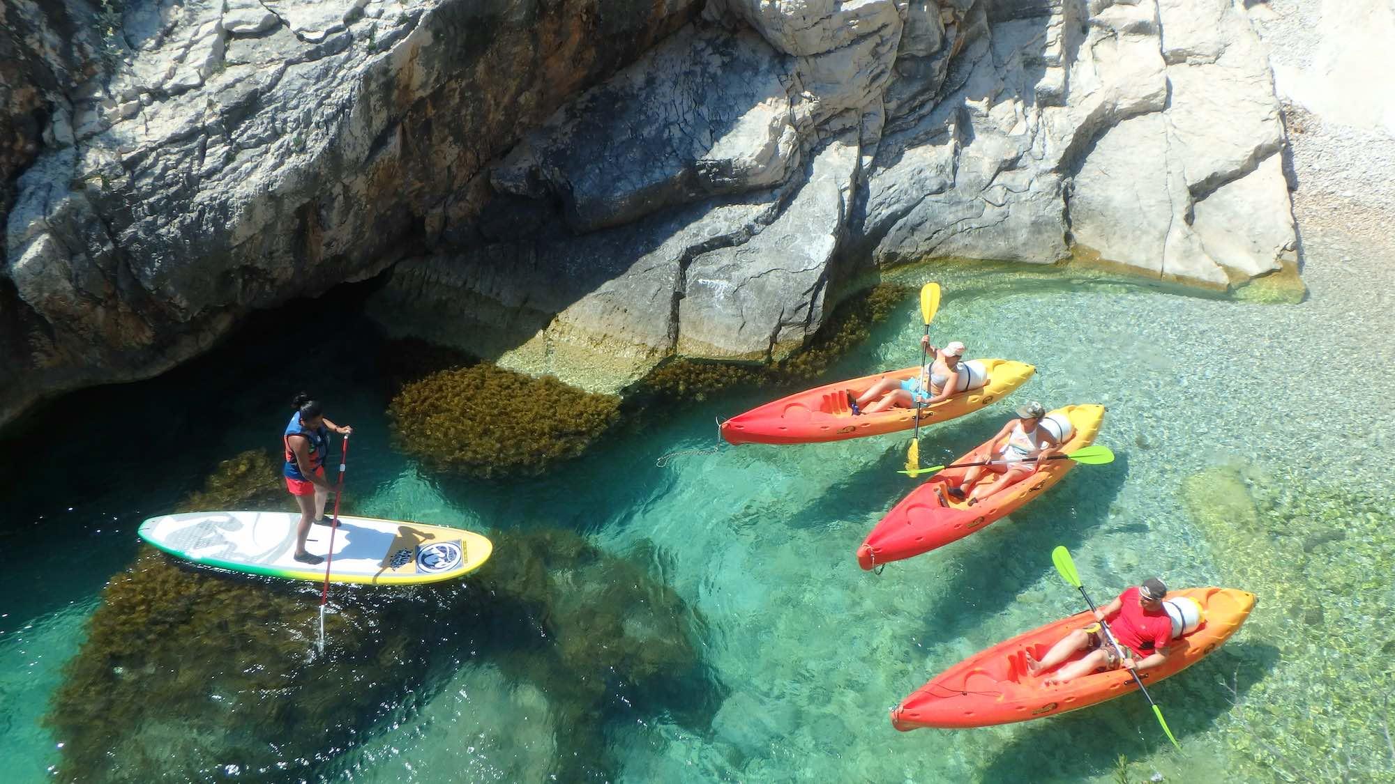 kayak and paddleboard trip, Vis Island Croatia