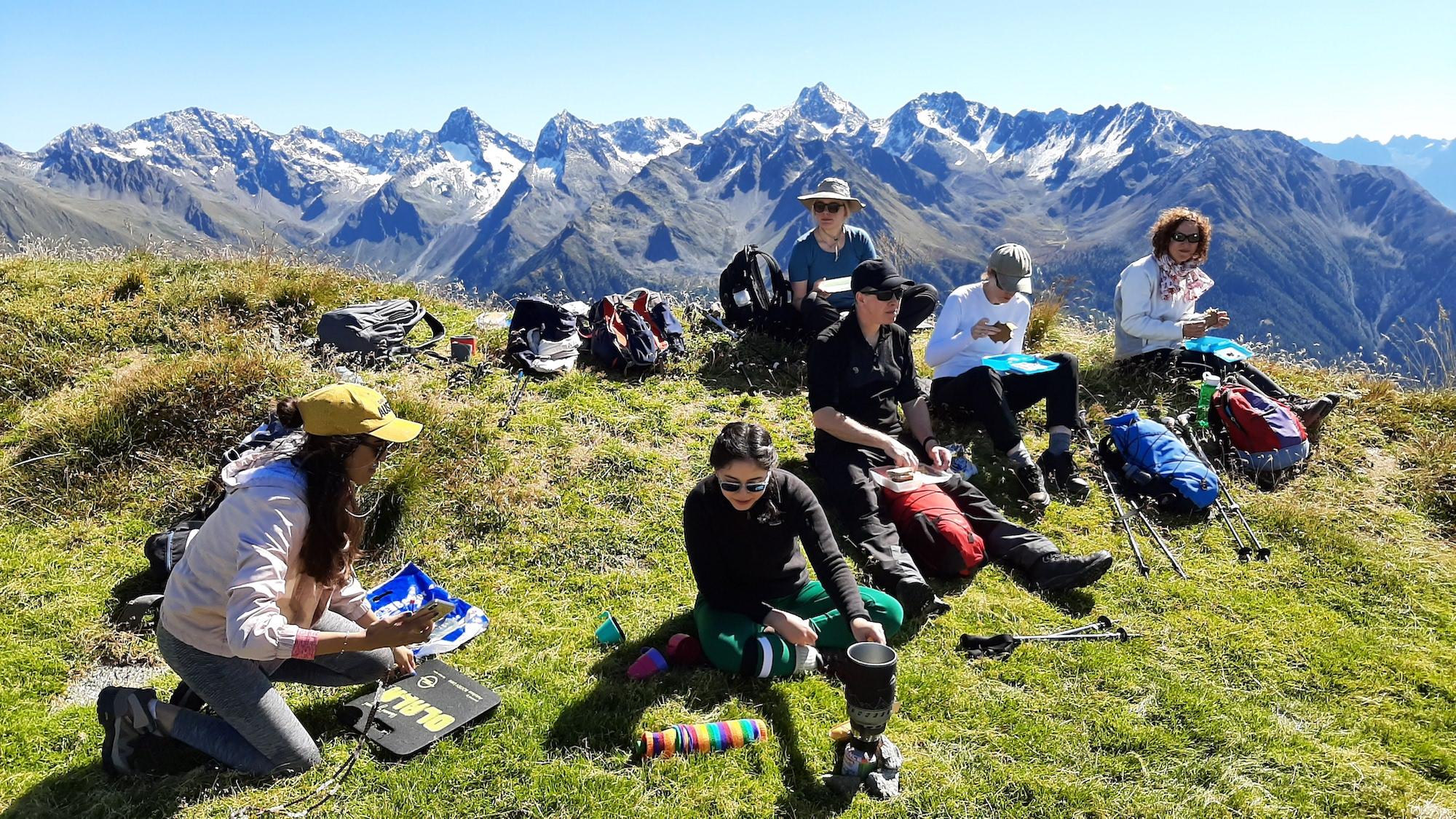 Picnic in the Austrian Alps